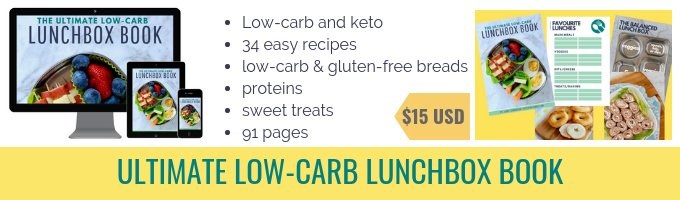 mockups of low-carb lunchbox book and pages