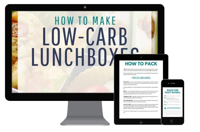 Ultimate low-carb lunchbox book guide mockup