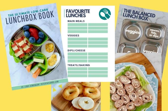 Ultimate low-carb lunchbox book pages