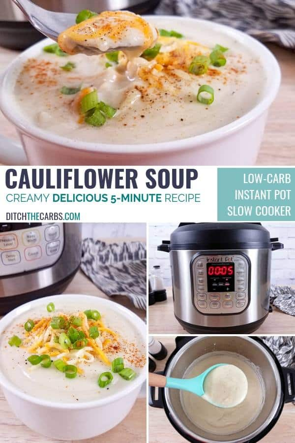 Creamy cauliflower soup