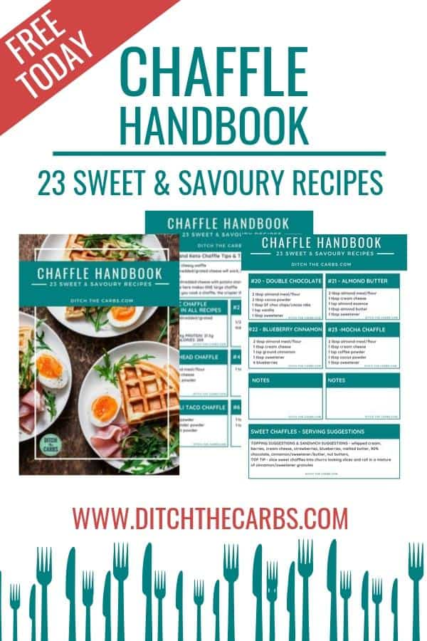 Free Chaffles Cookbook - pinterest