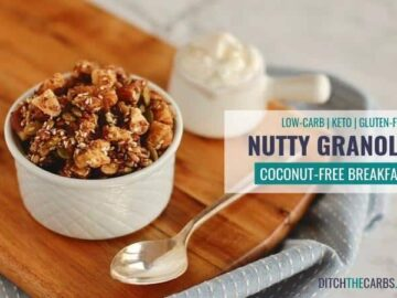 Finally ... an easy healthy sugar-free nutty granola - coconut free