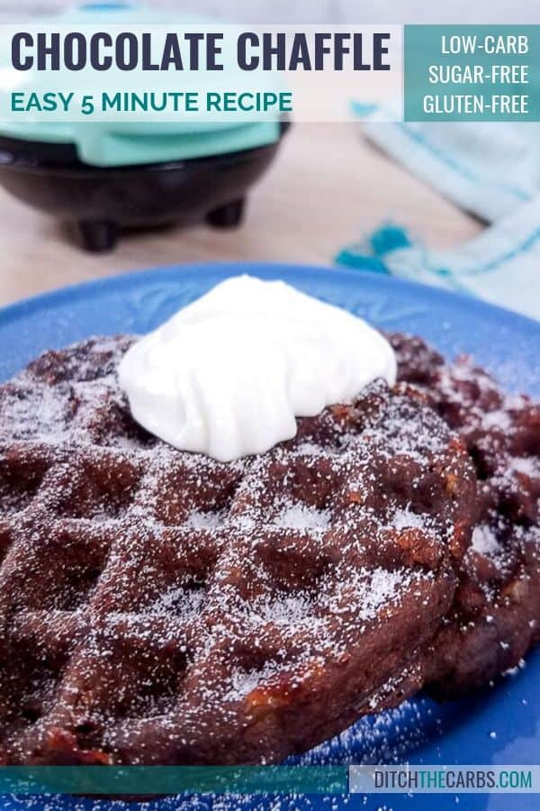 double chocolate chaffle recipe