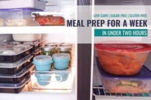 healthy low-carb meal prep for a family of four