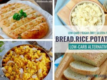 The best YUMMY low-carb potato, bread and rice alternatives