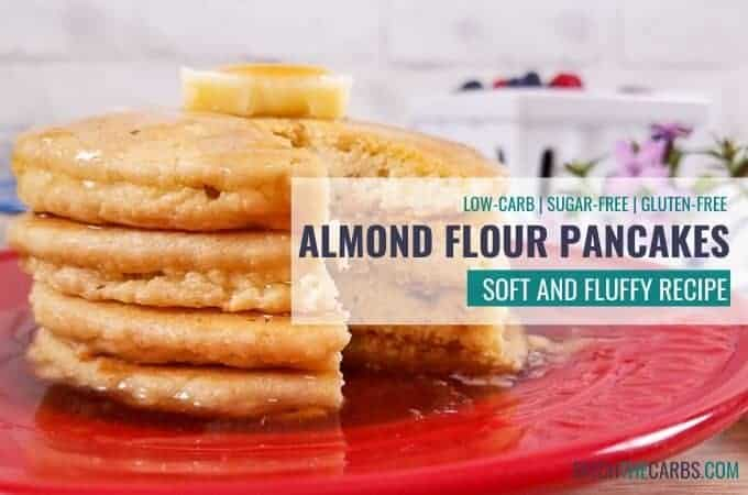 Low-carb almond flour pancakes recipe - sugar-free