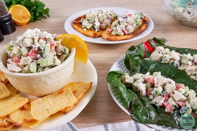 Easy Low-Carb Chicken Salad - Served 3 Ways + VIDEO