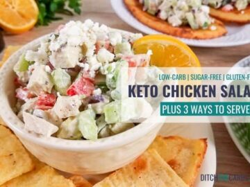 Easy Keto Chicken Salad - Served 3 Ways + VIDEO