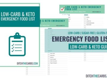 Get your low-carb and keto emergency food lists - be prepared.