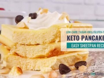 Sheet Pan Keto Pancakes - EEEEEASY coconut flour recipe