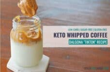 How to make Sugar-Free Keto Whipped TikTok Coffee.