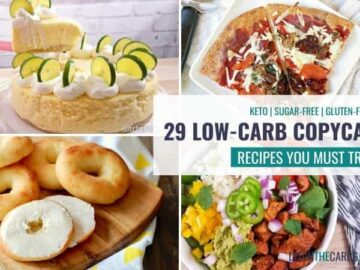 various plated low-carb copycat recipes