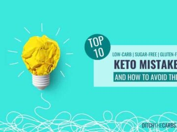 Top 10 keto mistakes with lightbulb