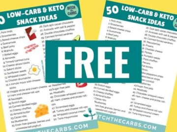 mockup of printable top 50 keto snack ideas
