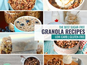collage of granola dishes