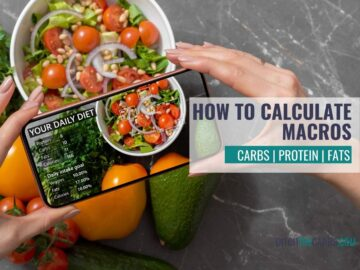 how to calculate macros with an app and bowl of salad