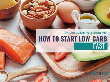healthy keto food showing how to start a low-carb diet fast