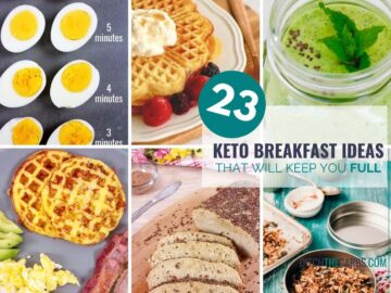 23 easy keto breakfast ideas collage of recipes