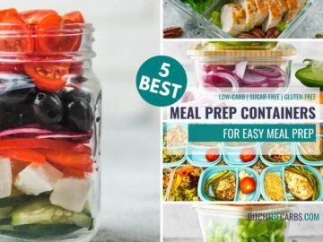 collage of the 5 best meal prep containers