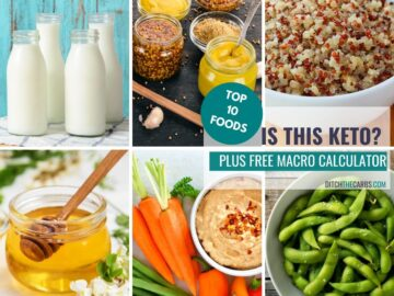 collage of the top 10 foods is this keto